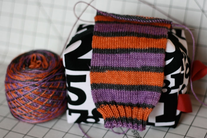 Piddly bag with sock project.