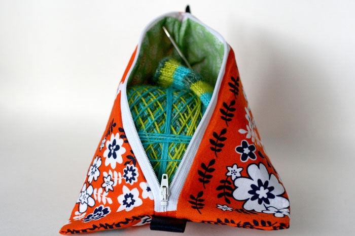 Large Triangle Bag With Sock Project